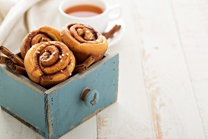 Cinnamon buns for breakfast