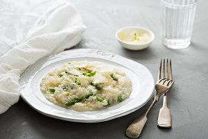 Asparagus lemon risotto with parmesan