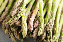 Fresh green asparagus on the table