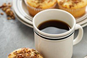 Homemade granola muffins for breakfast