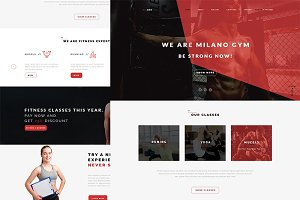 Milano Psd Layout | Psd For Gym