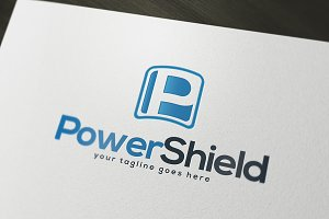Power Shield Logo Template