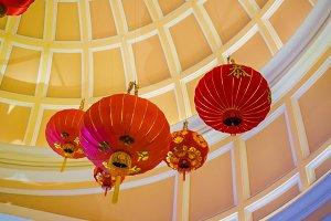 Chinese lanterns chandelier
