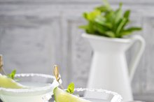Lemonade martini cocktail garnished with lime