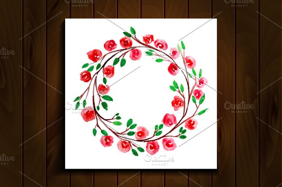Frame of watercolor flowers. Set-2 - Graphics