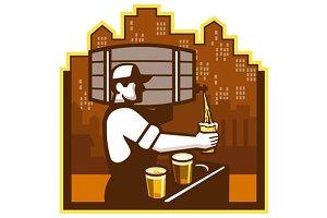 Bartender Pouring Beer Keg
