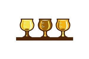 Beer Flight Glass Retro