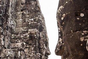 statue Bayon Temple Angkor Thom