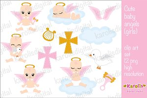 Cute baby angels (girls)