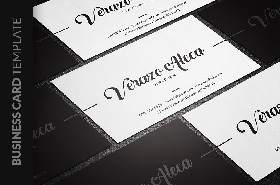 Elegant individual business card business card templates for Single business card template
