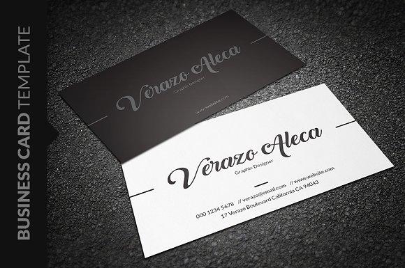Elegant Individual Business Card Business Card Templates - Single business card template