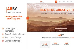 ABBY - One Page Creative PSD Theme