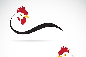 Vector image of an cock.