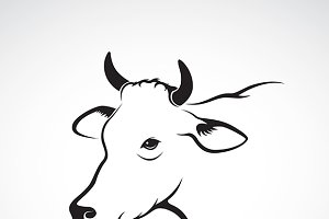 Vector image of an cow head.