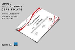 Multipurpose Certificate - V01