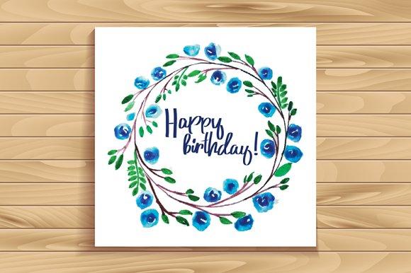 Happy Birthday Card Graphics Creative Market