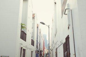 Back street alleyway