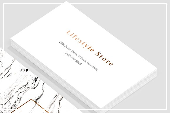 White marble copper business card business card templates white marble copper business card business card templates creative market colourmoves