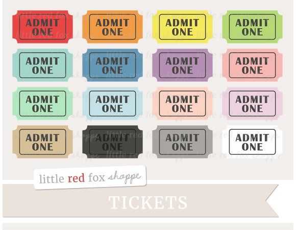 admit one ticket clipart illustrations creative market