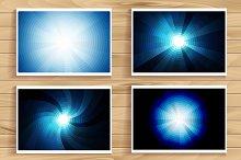 Element blue light with lens effect