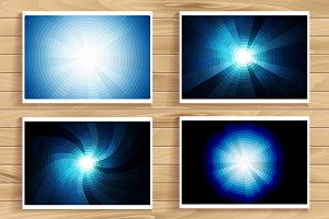 Element blue light with lens effect