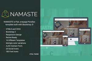 NAMASTE – Responsive One Page Theme