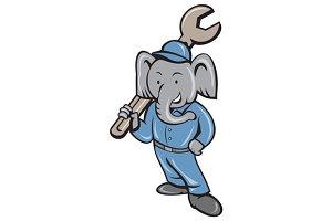 Elephant Mechanic Spanner Standing