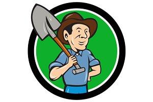 Farmer Shovel Shoulder Circle
