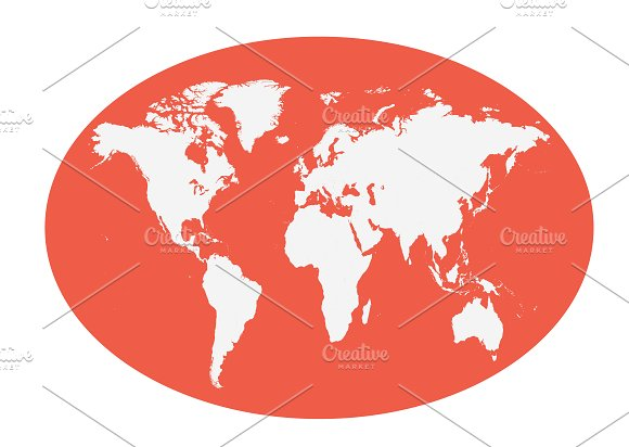 World map planet red color flat web elements creative market world map planet red color flat web elements gumiabroncs Gallery