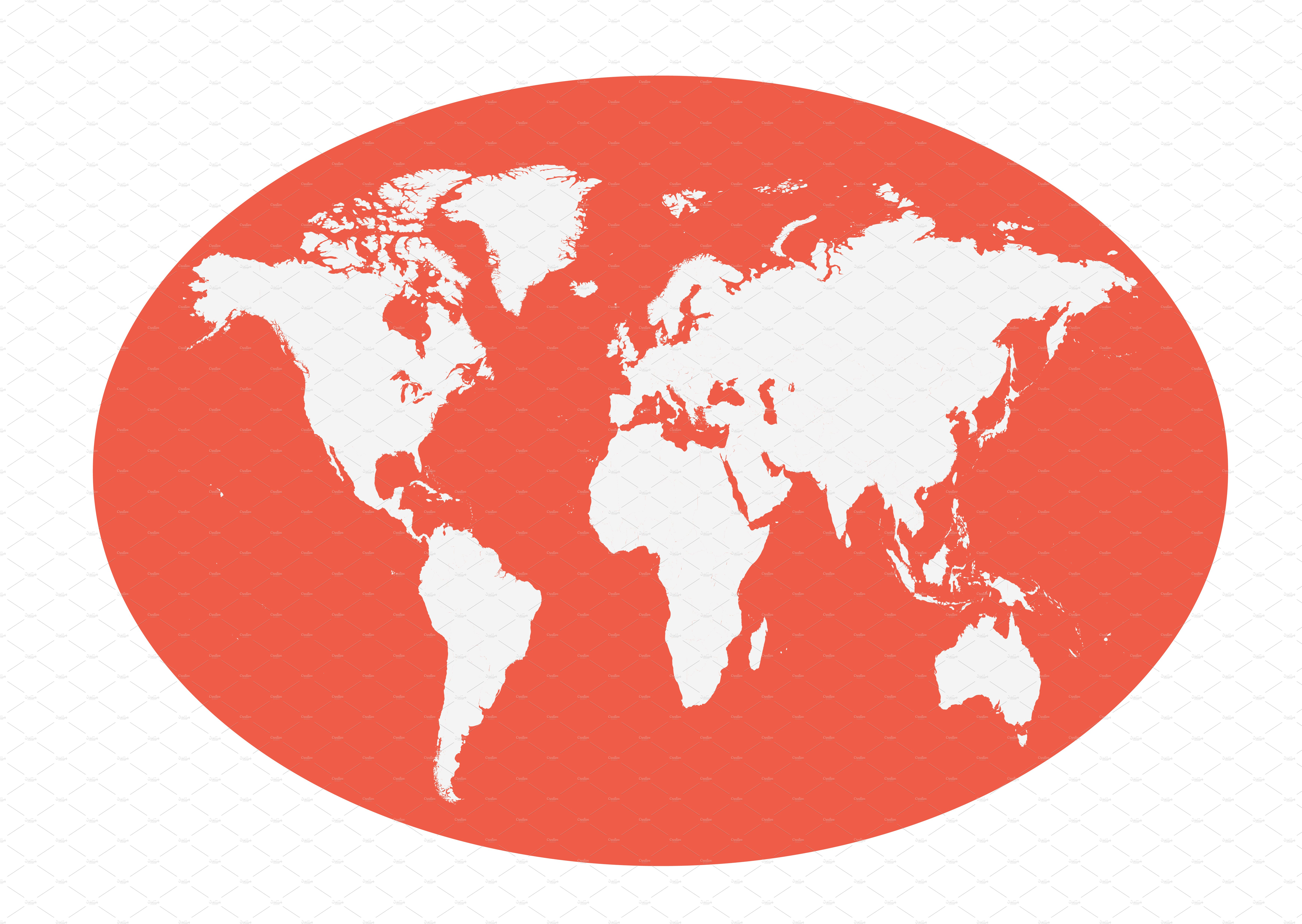 World map planet red color flat web elements creative market gumiabroncs Gallery