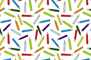 Back to school pencil pattern