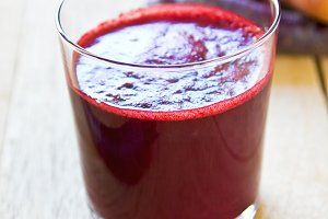 Purple and Orange Carrot juice