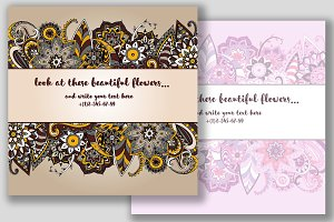 2 ornamental card templates