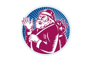 Santa Claus Father Christmas Retro
