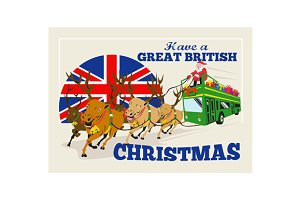 Great British Christmas Santa Reinde