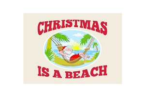 Santa Claus Father Christmas Beach