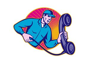 Telephone Repairman Worker Phone