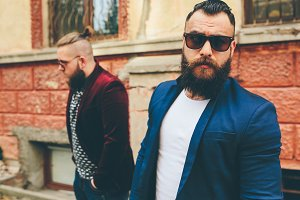 Two stylish bearded men