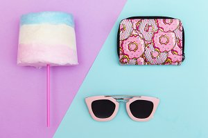 trendy accessories and sweets