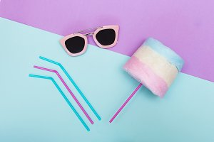 sunglasses with sweets.