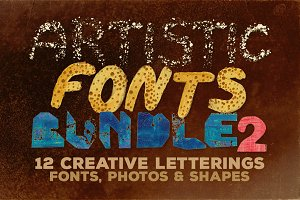 Artistic Fonts Bundle 2