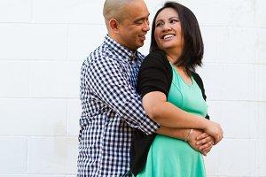 Engagement Couple White Background