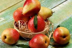 Yellow and Red Pears