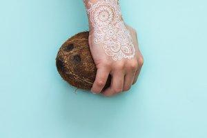 Boho coconut concept