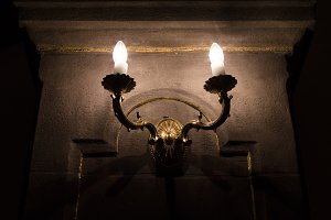 Old decorative wall lamp