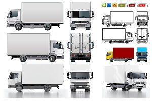 Delivery/cargo truck mockup pack