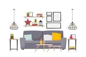 Apartment interior vector