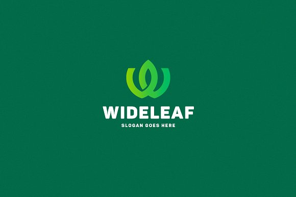 wide leaf letter w logo template logos