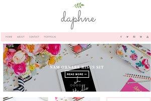 Feminine Blogger Template - Daphne