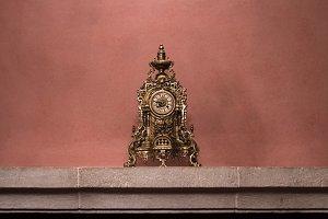 Antique decorative golden clock